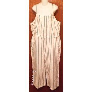 NWT  Loft Striped Jumpsuit